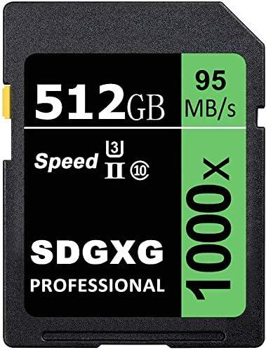 SDGXG 512GB Performance Class 10 U3 SDXC Flash Memory Card 95MB/S SD Adapter (512GB-C)