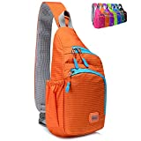 Peicees Small Sling Backpack Waterproof Unisex Shoulder Bag Chest Crossbody Daypack...