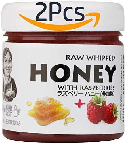 【Amazon.co.jp限定】 (2個) はちみつ 蜂蜜 ハチミツ 生 ラズベリー 200gRaw Honey with Raspberry 200g x 2 units
