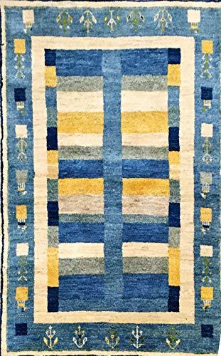 generisch Nomadi Art Gabbeh-Teppich, schöner, Neuer Wollteppich 140x100 cm, handgeknüpft