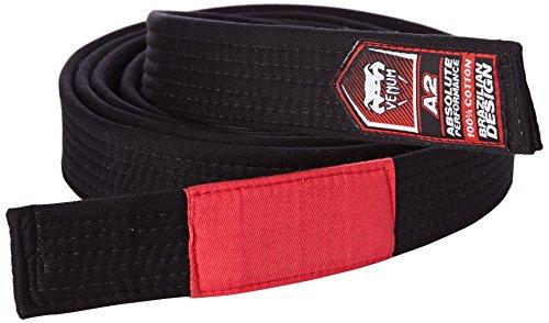 VENUM Brazilian Cinturón de Jiu Jitsu, Unisex Adulto, Negro, A2