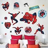 Diy 3D Vivid Spiderman Stickers Muraux Décoratifs Pour Les Chambres D'enfants Film de Bande Dessinée Stickers Muraux Décor À La Maison Papier Peint Mural Pour La Chambre Des Garçons