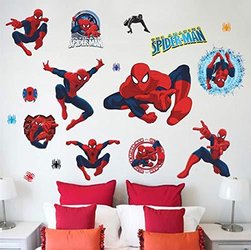 Diy 3D Vivid Spiderman Stickers Muraux Décoratifs Pour Les Chambres D'enfants Film de Bande...