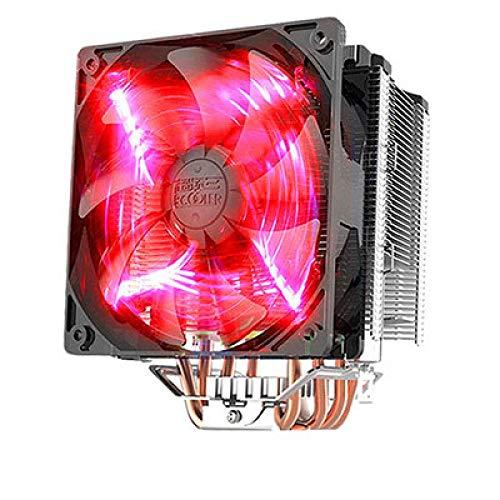 CYONGYOU Enfriador de CPU Enfriador de computadora 4 Enfriamiento por Tubo de Calor Ventilador Inteligente silencioso X6