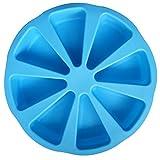 ZWANDP Silikon-8 Lochform Pizza Kekse Chocolate orange Eiswürfelschale Kuchenform Seifenform Muffin Tasse Kuchen DIY Tools