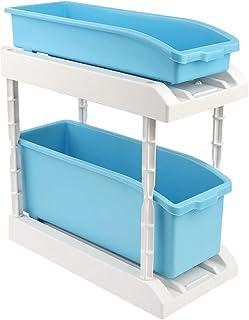 Lsaardth Boîte de Rangement - Boîte de Rangement pour Support d'assaisonnement à Double Couche pour épices de Cuisine(Bleu)