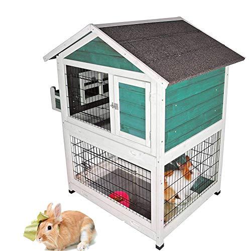 DJLOOKK Animales pequeños jaulas Mascotas de Interior y al Aire Libre, casa, jaulas de conejitos, aparador para Conejos al Aire Libre,Green