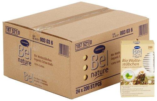 Bel - 187521 Nature Bio - Bâtonnets ouatés - 24 boîtes de 200 bâtonnets ouatés