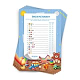 Baby Shower Games Boy - Emoji Pictionary - Fun Guessing Game Boys -Great for Door Prizes - Funny Activities - Decorations and Ice Breakers - Baby Shower Ideas