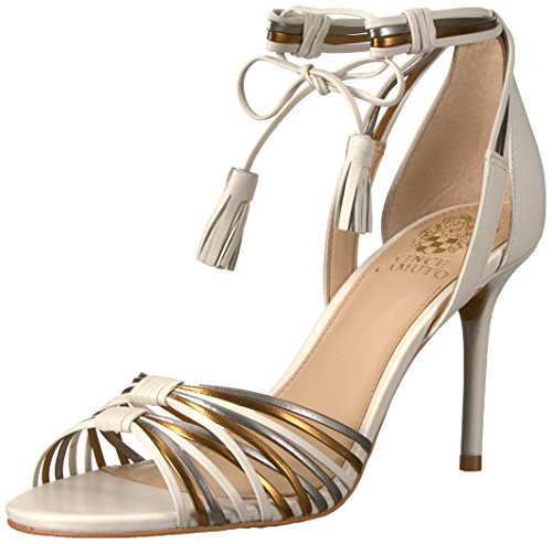 Vince Camuto Women's STELLIMA Heeled Sandal, Gold/Ivory/Silver, 5.5 M US