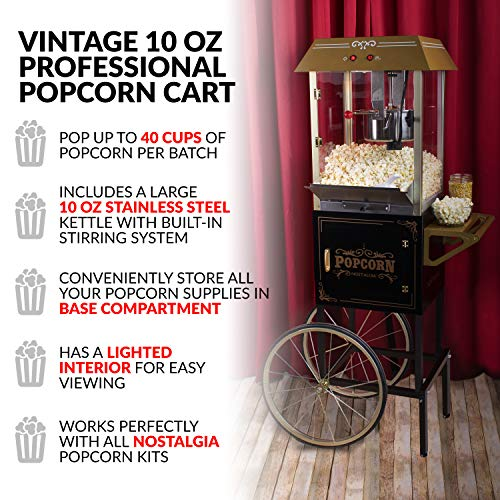 """Product Image 4: Nostalgia Vintage 10-Ounce Professional Popcorn and Concession Cart 