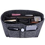Felt Insert Bag Organizer Bag In Bag For Handbag Purse Organizer, Six Color Three Size Medium Large X-Large (Large, Grey)