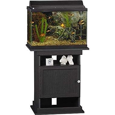 Ameriwood Home Flipper 10/20 Gallon Aquarium Stand, Black Oak