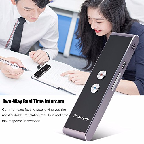 Smart Voice Translator Portable Intelligent Two-Way Real time Speech Translator Bluetooth 2.4G Interpreter Support 30+ Languages Translation, for Learning Travelling Business and Meeting (Black) Photo #5