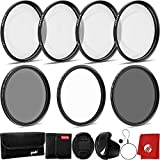 Opteka 58mm Professional Close-Up Set (+1, 2, and +4) with 10x Macro Lens & Filter Pouch Bundle with Circuit City 58mm Digital Photography Filter Kit (UV, CPL, ND4) and Accessories (5 Items)