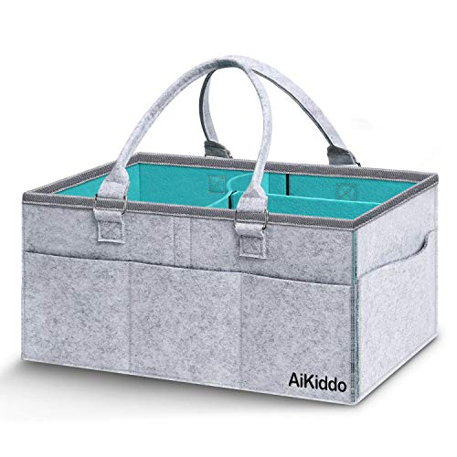 Baby Windel Caddy Organizer-Portable Auto Travel Ablagekorb, stilvolle große Windel Caddy, Kindergarten Lagerplatz für Windeln, Baby Tücher & Kid Spielzeug-Baby-Dusche-Geschenk-Korb