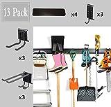 """Best Garage Organizers - 13PC Garage Organizer,64"""" Garage Hooks And Hangers Steel Review"""