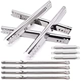 Grill Replacement Parts for Charbroil 463347017, 463377017, 463275517, 463673517 Gas Grills, Grill Burner Tubes & Heat Plates and Adjustable Crossover Tubes Kit for Char-Broil Performance Grills