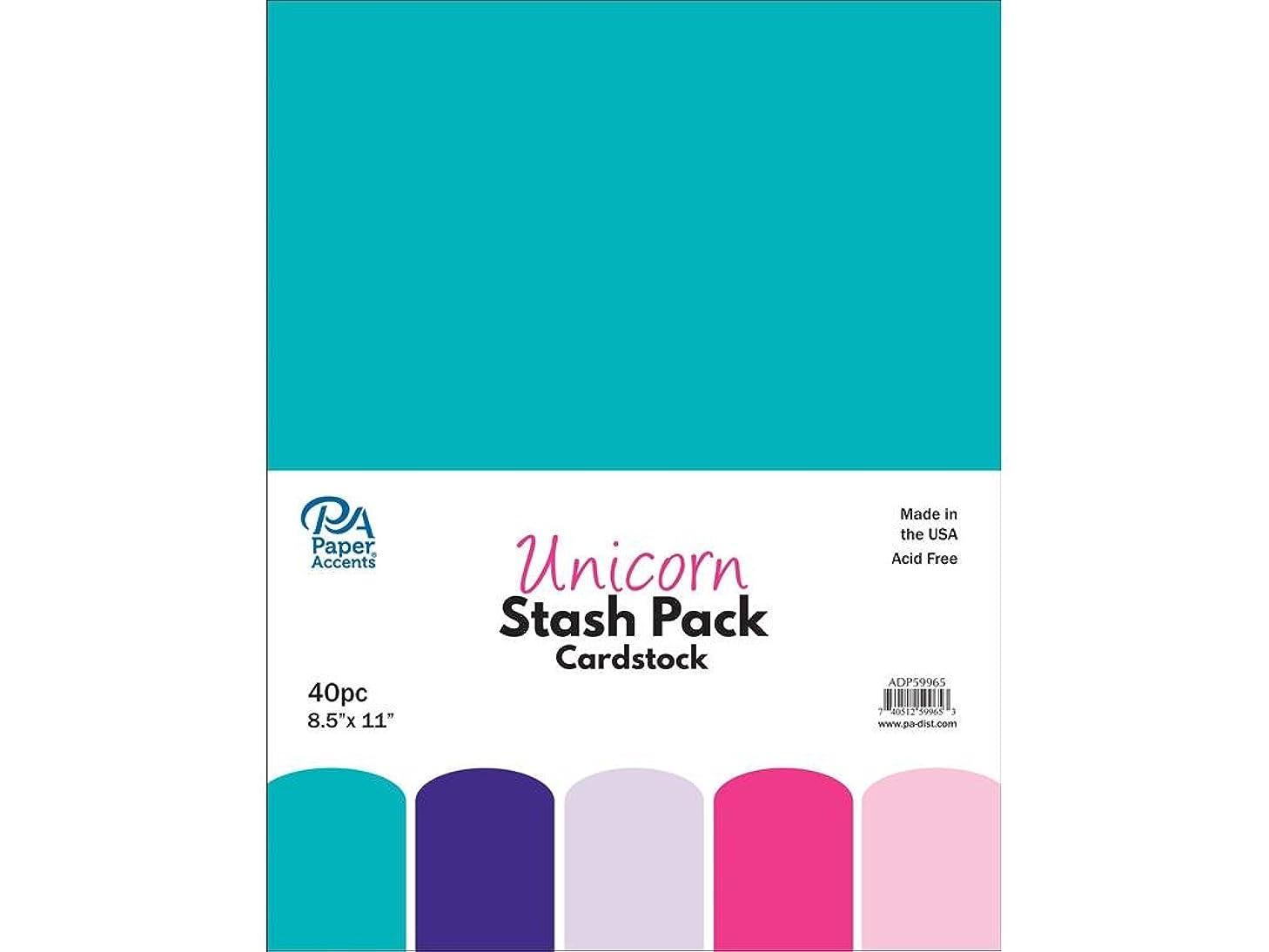 Paper Accents 40pc Stash Pack 8.5x11 Unicorn