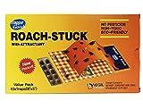 Trappe ROACH-STUCK - Trappola e attrattivo per scarafaggi - Carta adesiva, monouso, non tossica - Confezione da 10