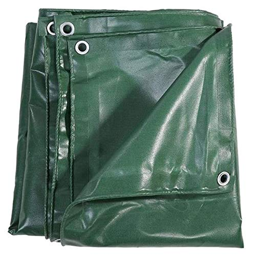 Reusable Outdoor Heavy Duty Tarpaulin Sheet Cover 100% Waterproof Weather for Kennels Chicken Coop Fishpond Hay Log Pile Roof Trailer Camping Furniture Green Ground Sheet 3 X 2M