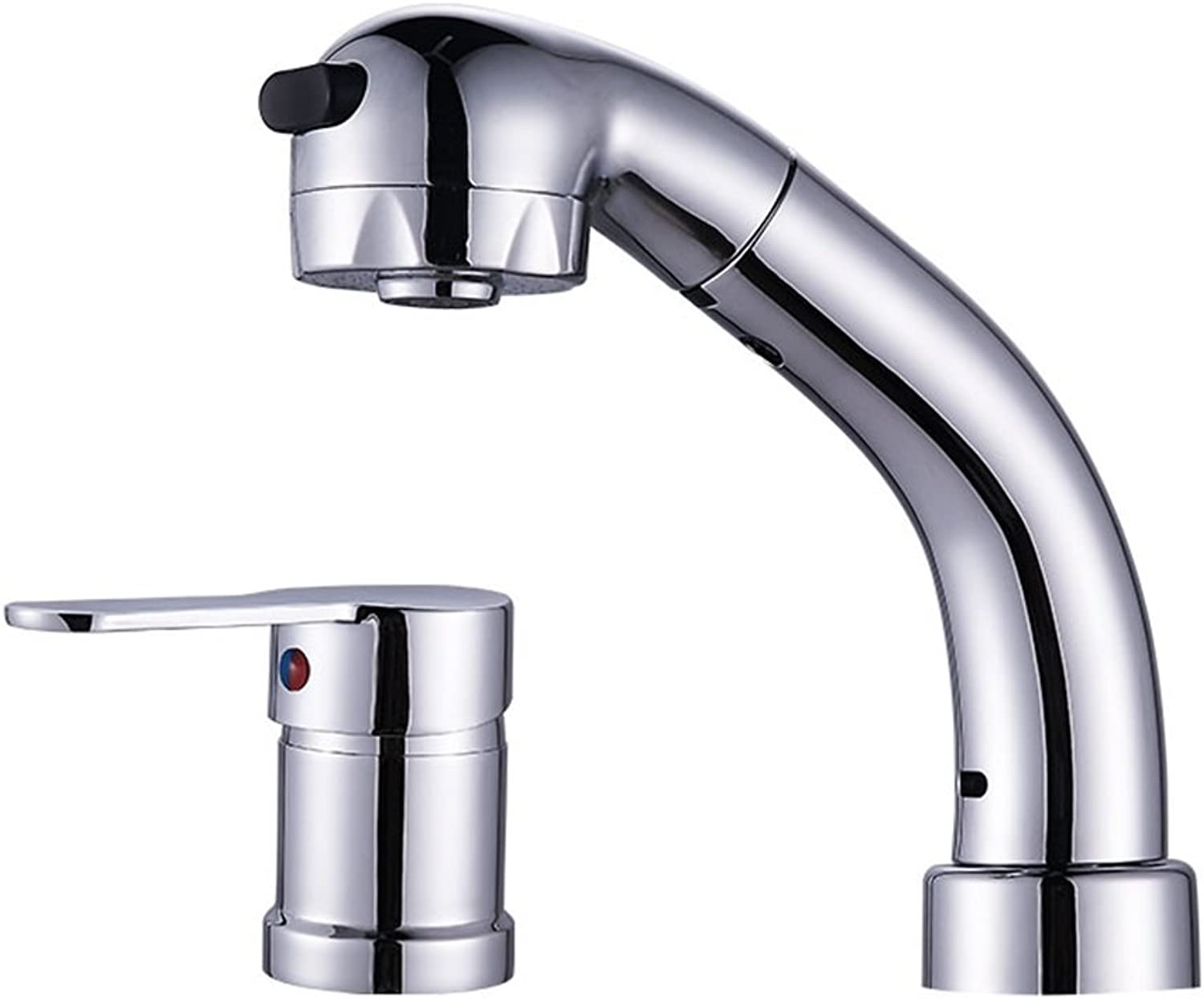 LXYU Faucet Full Copper Split Pull Washbasin Faucet Retractable Lifting water-tap
