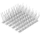 4.6 Meter Edelstahl Taubenabwehr, Onesight Vogelabwehr Spikes 14x33cm insgesamt 4,6m Taubenspikes Mit Klickverschluss und Sollbruchstelle, UV-Beständig Rostfrei