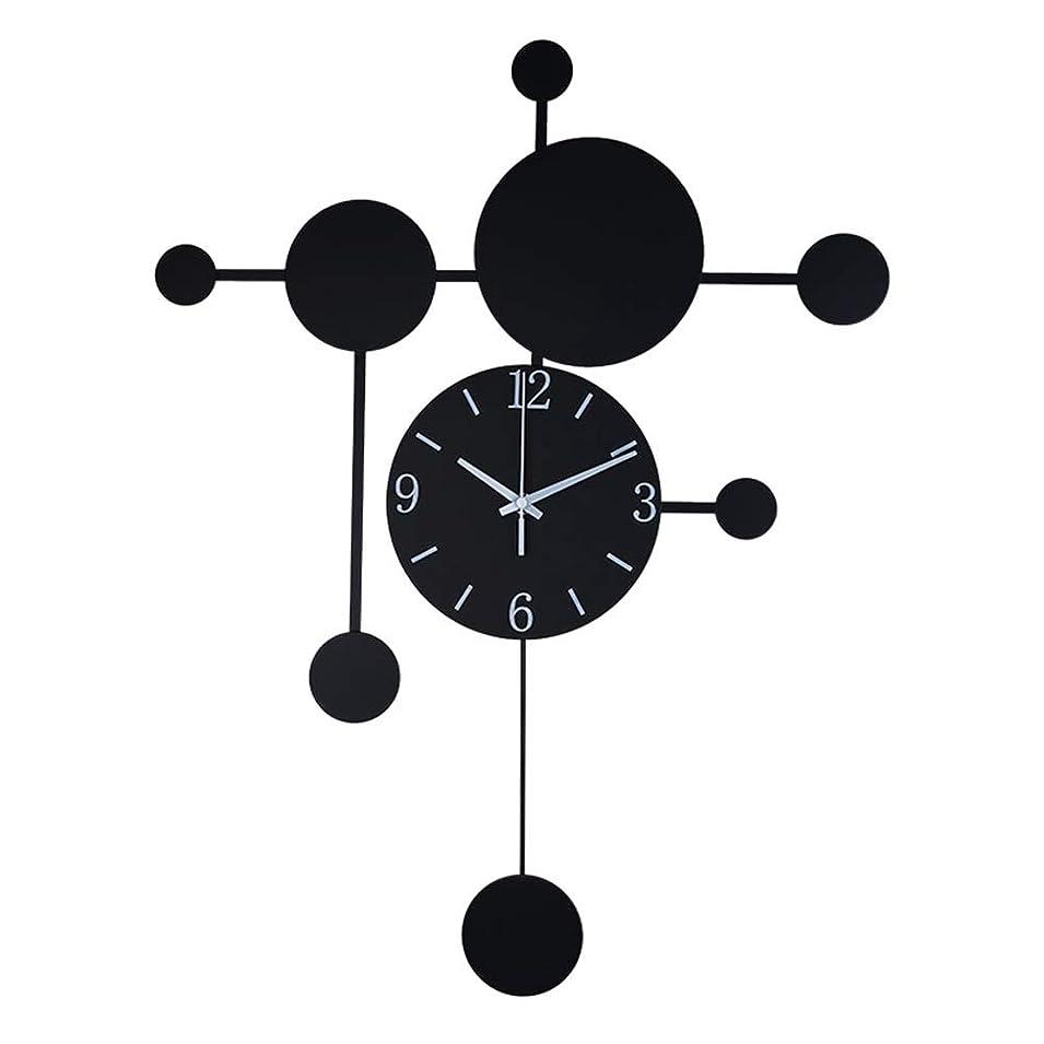 クマノミ上に浪費0 ウォールクロック北欧クリエイティブノンチック単3電池式の近代的な産業オフィスの寝室のリビングルームの装飾大黒いクォーツ時計 0