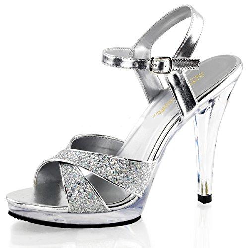 Higher-Heels Fabulicious Riemchen-Sandaletten Strass Flair-419G Silber Gr.35