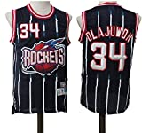 CDS Jerseys - Houston Rockets # 34 Olajuwon Retro Jerseys del Baloncesto, Fresco y Transpirable de Tela Unisex Camiseta sin Mangas (Color : M:175cm/65~75kg)