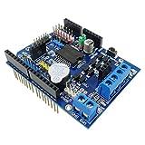 KKHMF L298PモータドライバモジュールHブリッジドライブシールド拡張ボードArduino用高出力DCステッパモータコントローラ