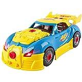 LFTS Juguetes para niños de 3 años Take Apart Toy Car Racing -30 Piezas con Sonidos y Luces realistas Desmontar Divertidos Juguetes de desmontaje de Bricolaje