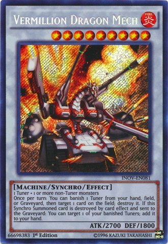 Yu-Gi-Oh! - Vermillion Dragon Mech (INOV-EN081) - Invasion: Vengeance - 1st Edition - Secret Rare