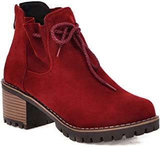 BalaMasa Womens ABS13929 Leather Boots