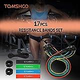 Zoom IMG-1 tomshoo 17pcs bande elastiche fitness