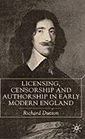 Licensing, Censorship and Authorship in Early Modern England: Buggeswords
