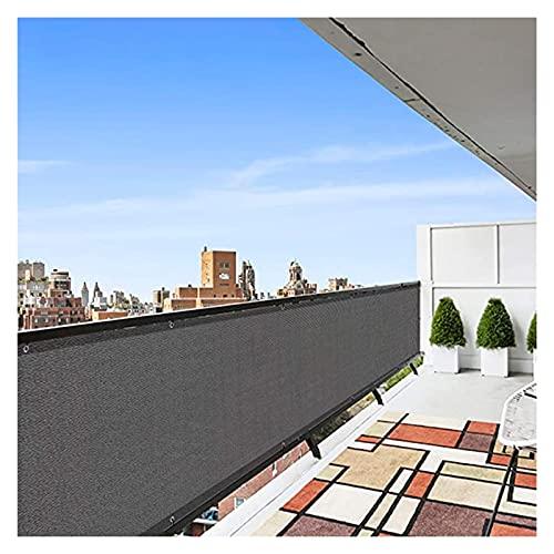 Pillows-RJF Pantalla para Balcón, HDPE Toldo para Balcón Protección UV Escudo de Privacidad con Ojales y Cremalleras Protección de Privacidad para Jardín Porche, Tamaño Personalizado