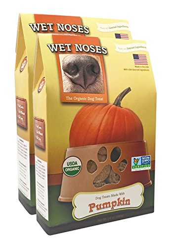Wet Noses Organic Crunchy Dog Treats – for All Pet Sizes, Breeds – All-Natural Puppy Treat, Senior Dog Snack – 100% Human-Grade – Delicious Chews for Dogs – Pumpkin, 14 Oz (2-Pack)