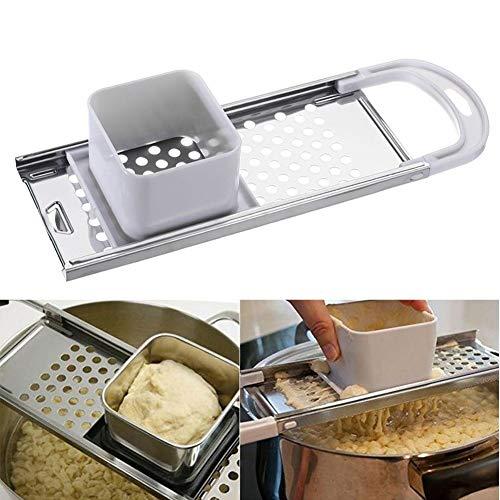 Spaetzle Maker, tradicional casero alemán huevo fideos SpäTzle, rallador de masa hervida accesorios de cocina - acero inoxidable, 32,7 × 11 × 6,2 cm