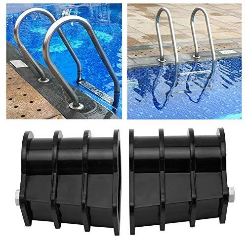Hebilla de escalera, peldaños de escalera fáciles de desmontar e instalar 2 piezas/juego de piezas integradas de escalera Piezas de escalera para piscina para escalera de piscina