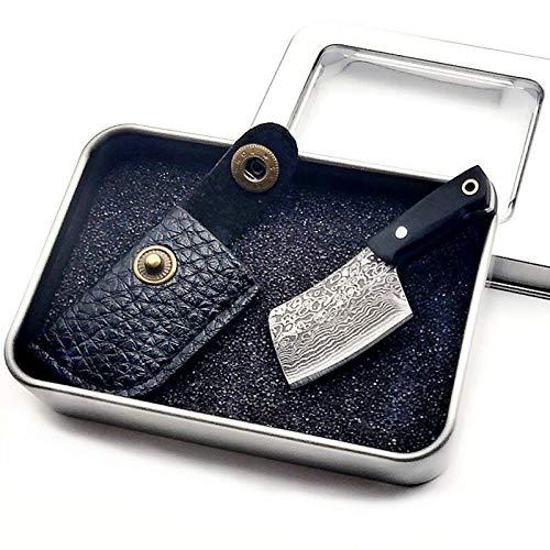 HAOYUGO Mini Cuchillo Llavero con Funda,Navaja Llavero Mini,Mini Keychain Knife with Sheath Cover