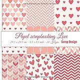 Papel Scrapbooking Love 20,5 x 20,5 cm - 8,5 x 8,5 inch - 20 hojas
