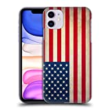 Head Case Designs Americano De Estados Unidos De América Banderas Vintage Carcasa rígida Compatible con Apple iPhone 11