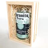 Mini Corona Beer Bottle Candle Gift Pack in Wooden Crate (Mojito Lime)