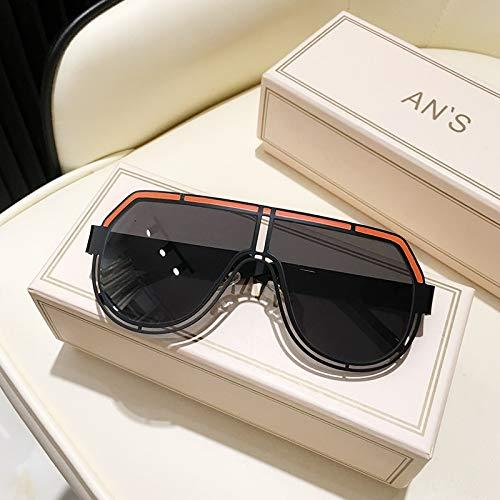 ghn Gafas de sol de moda para hombre, unisex, con diamantes de imitación, color degradado, UV400, gafas de sol simples para pesca de montañismo, color de lentes de sol C01