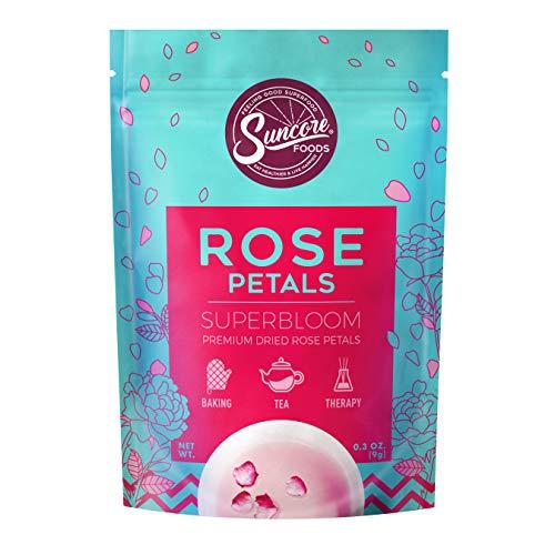 Suncore Foods - Premium Dried Rose Petals Superbloom, No Caffeine, No Preservatives,...