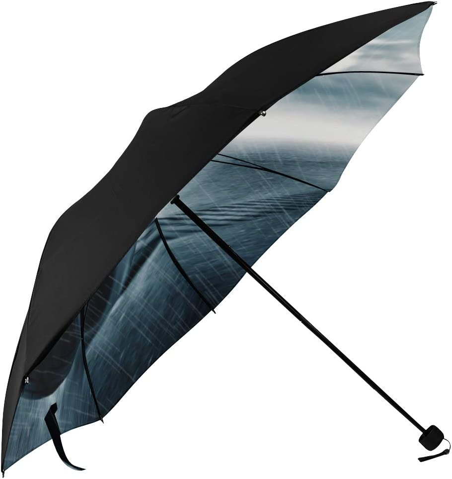 Very popular! Compact Umbrella With New Orleans Mall Handle Rain Drop Car Tire Underside Water