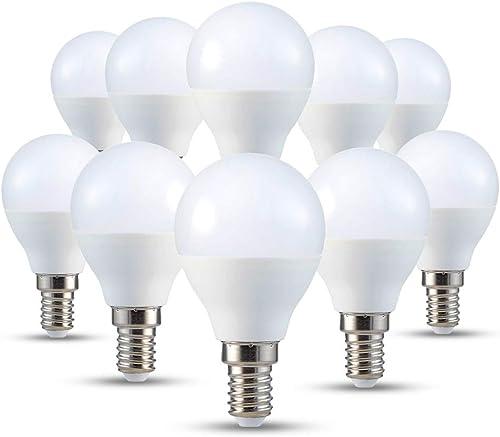 V-TAC Petite ampoule LED E14 P45 type globe, avec culot à vis, 4W (équivalent ampoule incandescente de 30W), blanc ch...