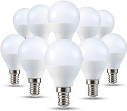 V-TAC E14 LED-lamp P45, druppelvorm, warm wit (2700 k), 4 W (set van 10 stuks)