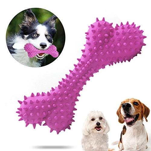 Sunshine smile Kauspielzeug Hund, Hundezahnbürste Hunde, Hundespielzeug Knochen, Hundezahnbürste Kauspielzeug, Zahnreinigung Hund Spielzeug, Interaktives Spielzeug Für Hunde (Rot)